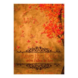 FALLen In Love Save The Date Personalized Invite