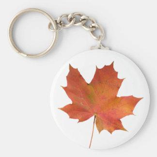 Fallen Leaf 01 Basic Round Button Keychain