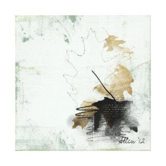 fallen leaf stretched canvas prints