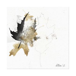 fallen leaf gallery wrap canvas