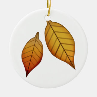 Fallen Leaf - Emoji Ceramic Ornament