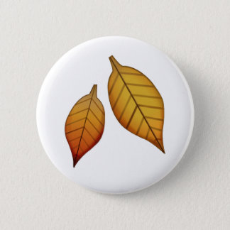 Fallen Leaf - Emoji Pinback Button