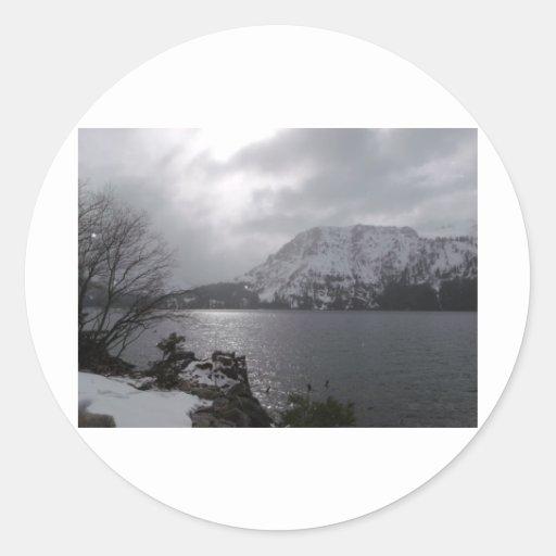 Fallen Leaf Lake Classic Round Sticker