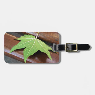 fallen leaf luggage tag