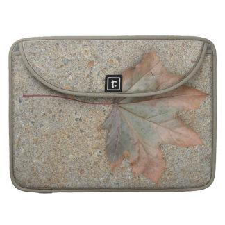 Fallen Leaf on Concrete Sleeve For MacBook Pro