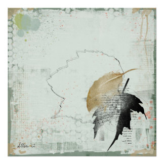 fallen leaf series print
