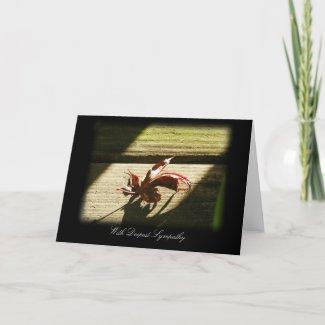 Fallen Leaf Sympathy card