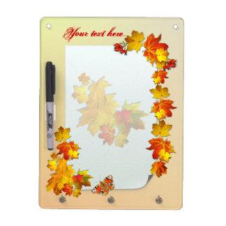 Fallen Leaves # 2 ~ Dry Erase Board With Hooks