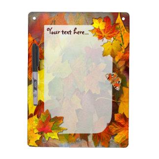 Fallen Leaves # 4 ~ Dry Erase Board With Hooks