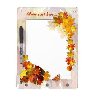 Fallen Leaves # 5 ~ Dry Erase Board With Hooks