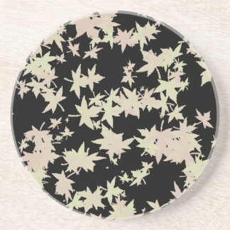 Fallen leaves autumn and winter design coaster
