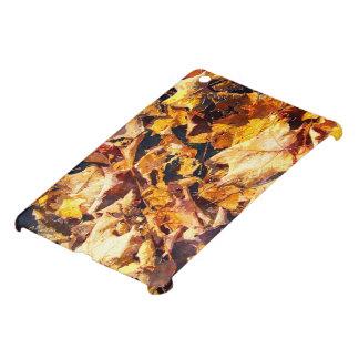 Fallen Leaves Autumn Winter Watercolor Art iPad Mini Cases