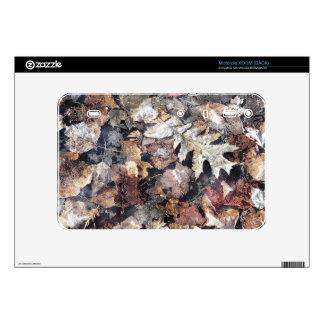 Fallen Leaves Autumn Winter Watercolor Art Skins For Motorola XOOM