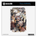 Fallen Leaves Autumn Winter Watercolor Art Skins For iPhone 3GS