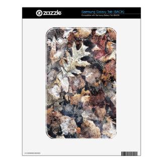 Fallen Leaves Autumn Winter Watercolor Art Samsung Galaxy Tab Skins