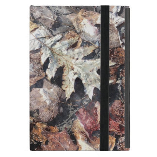 Fallen Leaves Autumn Winter Watercolour Art Cover For iPad Mini