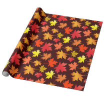 Fallen Leaves Autumn Wrapping Paper