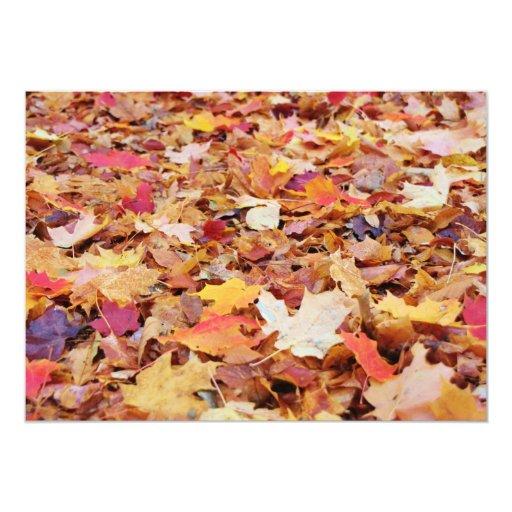 Fallen Leaves in Autumn 5x7 Paper Invitation Card