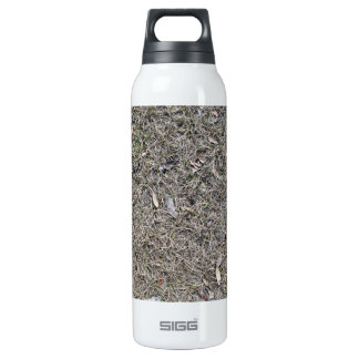 Fallen Leaves on Dry Grass Background Texture 16 Oz Insulated SIGG Thermos Water Bottle