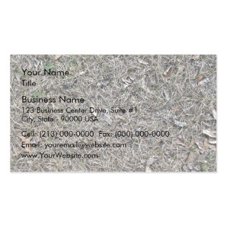 Fallen Leaves on Dry Grass Background Texture Business Cards