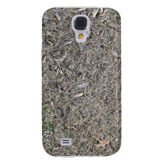 Fallen Leaves on Dry Grass Background Texture Samsung Galaxy S4 Covers