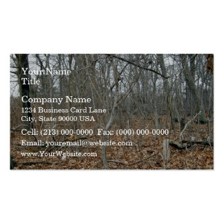 Fallen leaves on the forest floor business card