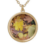 Fallen Maple Leaves Gold Plated Necklace