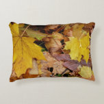 Fallen Maple Leaves Yellow Autumn Nature Decorative Pillow