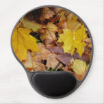 Fallen Maple Leaves Yellow Autumn Nature Gel Mouse Pad