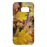 Fallen Maple Leaves Yellow Autumn Nature Samsung Galaxy S7 Case
