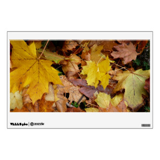 Fallen Maple Leaves Yellow Autumn Nature Wall Decal