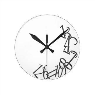 Fallen Numbers Wall Clock