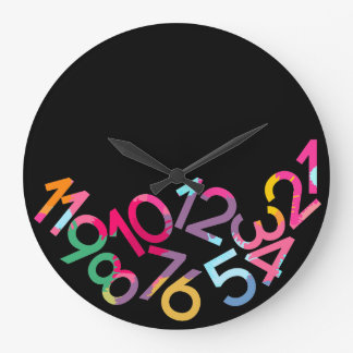 Fallen Numbers Funny Gravity Wall Clock