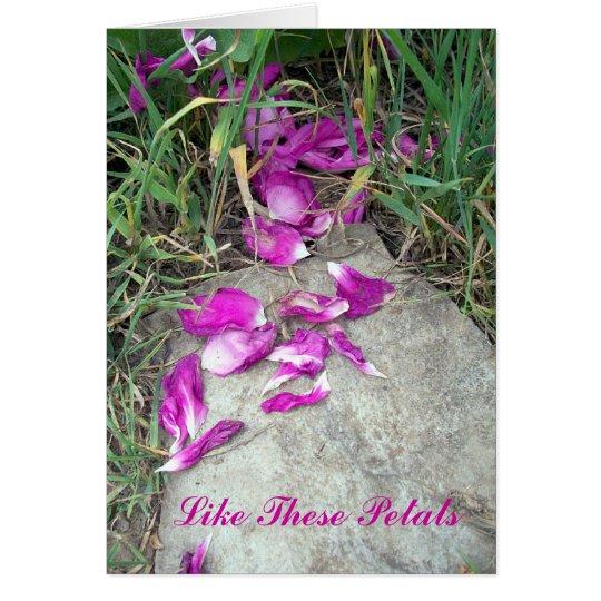 Fallen Petals Card