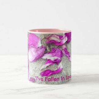 Fallen Petals Two-Tone Coffee Mug