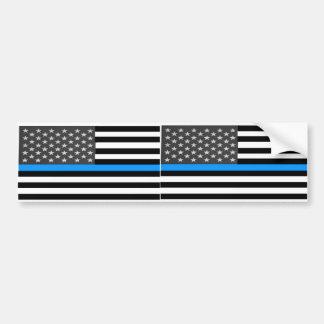 Fallen Police Flag Bumper Sticker