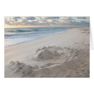 Fallen Sand Castle Greeting Card