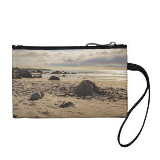 Fallen Sand Castle On The Beach Coin Wallet
