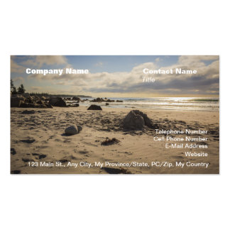 Fallen Sand Castle On The Beach Business Card