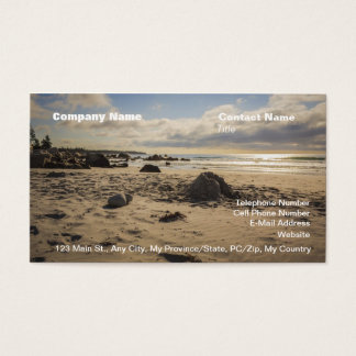 Fallen Sand Castle On The Beach Business Card
