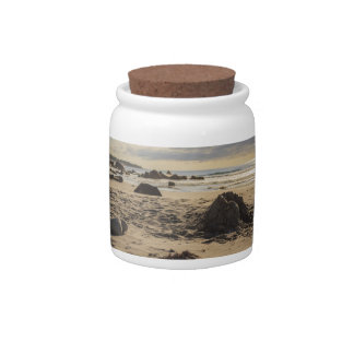 Fallen Sand Castle On The Beach Candy Dish