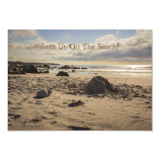 Fallen Sand Castle On The Beach Card