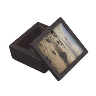 Fallen Sand Castle On The Beach Jewelry Box