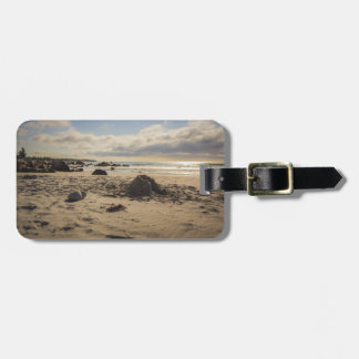 Fallen Sand Castle On The Beach Luggage Tags