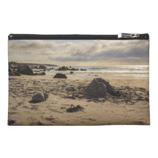 Fallen Sand Castle On The Beach Travel Accessories Bag