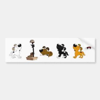 Fallen Soldier (Boots and pups mourn) Car Bumper Sticker