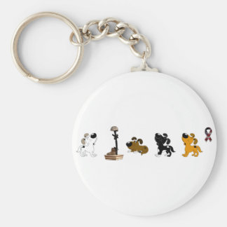 Fallen Soldier (Boots and pups mourn) Keychain