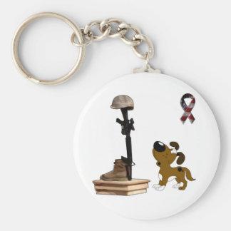 Fallen Soldier - Boots Mourns Basic Round Button Keychain