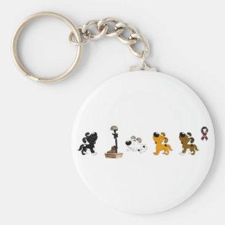 Fallen Soldier (Cutie and pups mourn) Basic Round Button Keychain