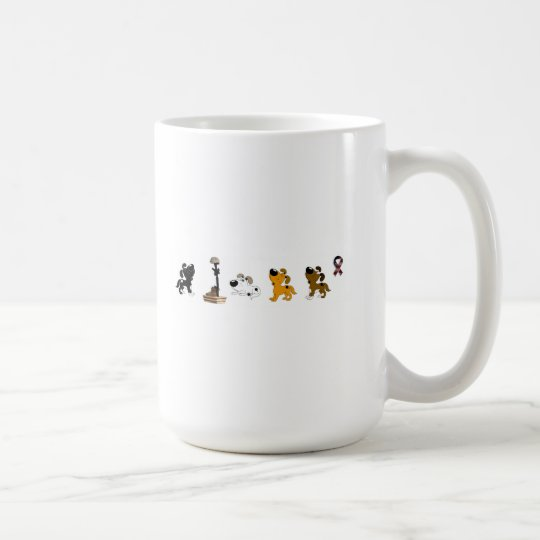 Fallen Soldier (Cutie and pups mourn) Coffee Mug
